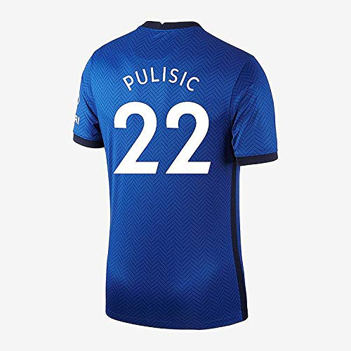 Lakivde New 2020-2021 Christian Pulisic NO.22 Jersey Mens Home Jerseys Blue (XL)