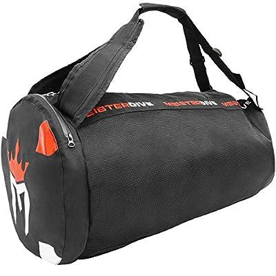 Meister Mesh Duffel Backpack Dive Bag w/Dry Pocket for Scuba & Snorkeling