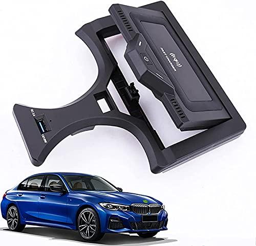 Placa Carga inalámbrica automóvil,para BMW 3 Series 2020 2021 Cargador inalámbrico para automóvil,Accesorios Carga rápida QC 3.0 de 15W,Puerto USB,Plataforma de Carga inalámbrica para vehículos de18W