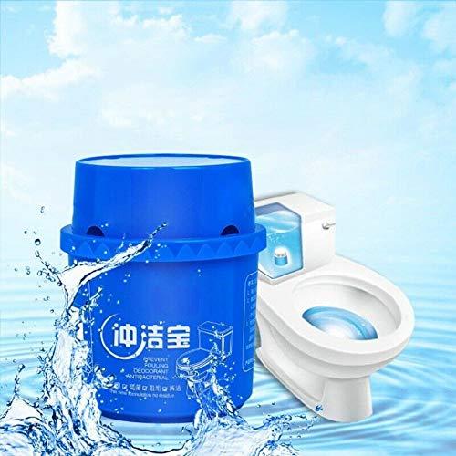 CAIZHAO Automatischer Toilettenschüsselreiniger und -erfrischer, Drop-in-Block-Haltbarkeit für bis zu 2000 Spülungen. Verhindert Flecken und Kalkablagerungen