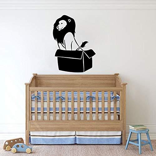 Tianpengyuanshuai fotobehang cartoon wilde dieren kinderen slaapkamer kinderkamer decoratie venster koelkast vinyl sticker