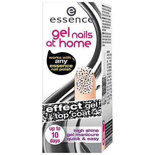Essence Gel Nails at Home - Effect Gel Top Coat Nagelgel - versch. Farben (05 polka dots) 7 ml