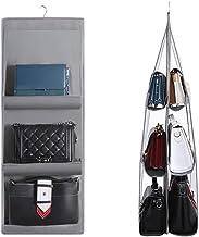 Organizador de almacenamiento para bolso de mano con 6 bolsillos, color gris