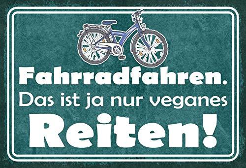 BlechschilderWelt Cartel de Chapa para Bicicleta. ¡ Esto es