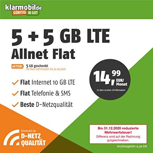 Handyvertrag D-Netz Allnet Flat 5 GB - Internet Flat, Allnet Flat Telefonie & SMS in alle Deutschen Netze, EU-Roaming, 24 Monate Laufzeit