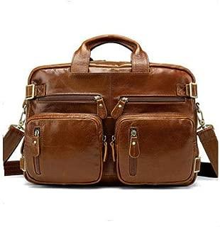 Mens Bag Multi-function Three-dimensional Bag First Layer Leather Men's Shoulder Messenger Bag Business Handbag Leather Men's Bag High capacity