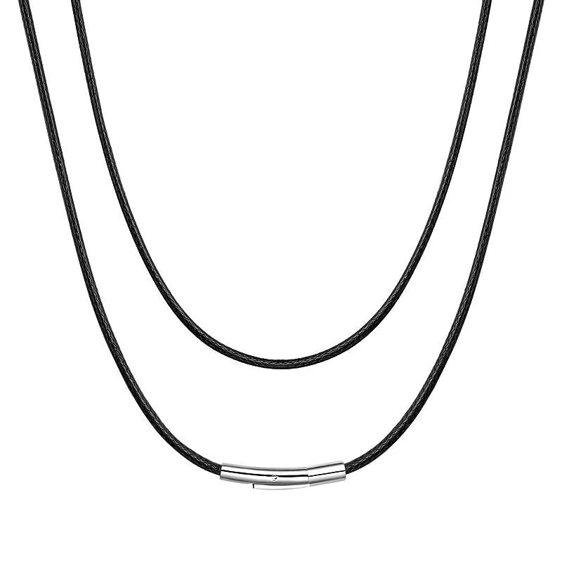 警報ダイバー記事ChainsHouse 65cm メンズ ネックレス チェーン レディース 金属アレルギー対応 細め おしゃれ 黒 ブラック アクセサリー