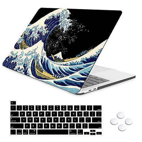 iLeadon MacBook Pro 16 Inch Case with Retina Display, Protective Soft Touch Ultra Thin Hard Shell Cover with Touch Bar and Touch ID, MacBook Pro 16 Inch Case 2019 A2141, Sea Wave