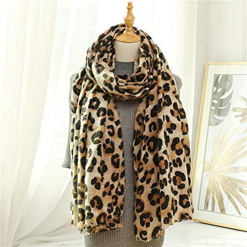 Schal Damen Winter Warme Frauen Schal Mode Leopardenmuster Lady Thick Soft Tücher Und Wraps Schals Decke C2