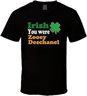 Irish You Were Zooey Deschanel St. Patrick's Day T Shirt XL Black