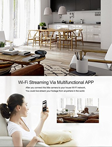 Spy Camera,MCSTREE Hidden Camera in Clock WiFi Hidden Cameras 1080P Video Recorder Wireless IP Camera for Indoor Home Security Monitoring Nanny Cam 140 Angle Night Vision Motion Detection