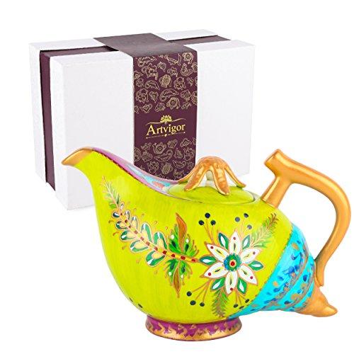 Artvigor Teiere Caffettiere Caraffe per tè e caffè in Porcellana Ceramica Conchiglia Set da caffè tè per Una Persona Colori Misti