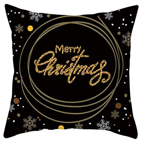 Merry Christmas Printing Dyeing Sofa Bed Home Decor Pillow Case Cushion Cover, Merry Xmas Printed Peach Skin Pillowcase, multicolour
