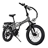 Rattan 48V 750W Electric Bike for Adults Folding Bikes 4.0 Fat Tire Bikes 13AH Removable Lithium-ion Battery E-Bikes 7 Speed Shifter Electric Bicycle High Step Across ebikes