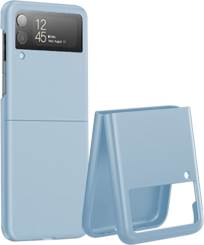Miimall Compatible with Samsung Galaxy Z Flip 3 2021 Case Cover, Galaxy Z Flip 3 PC Case Ultra-Thin Matte Finish Anti-Fingerprint Anti-Oil Bumper Case for Samsung Galaxy Z Flip 3 Flip 3 5G 2021(Blue)