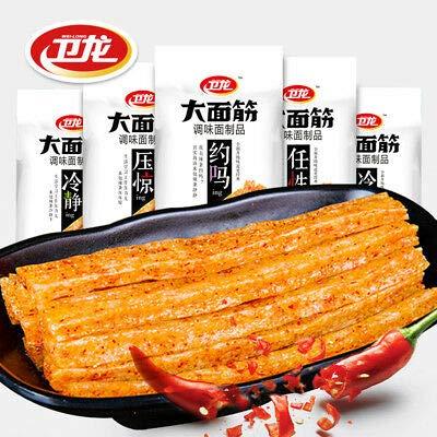 China Food Snacks WeiLong【卫龙 大面筋106g×5袋 LaTiao】Hotstrip Hot Gluten80后儿时辣片经典小吃河南特