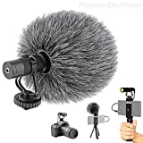 Video Microphone - Unidirectional On-Camera Microphone for DSLR Cameras and...