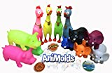 """Animolds Animal Toy Pack """"12 Squeeze me Fun Toys"""" Elephants Piggies and The Despacito Singing Chicken for Kids and Adults Wholesale & Bulk"""