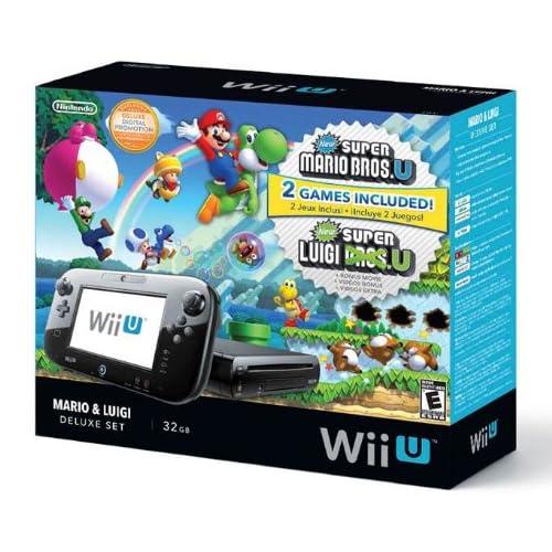 Amazon.com: Nintendo Wii U Deluxe Set: Super Mario Bros U ...