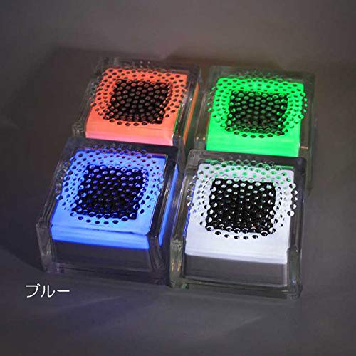 屋外照明 ソーラーライト LED 照明 埋込 駐車場 ライト 外灯 ガラスソーラータイル クリペ 100角タイプ ブルー 誘導灯 照明器具 おしゃれ