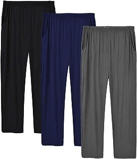 MoFiz Men's Modal Pyjama Bottoms Ultra Soft Sleepwear Lounge Pants