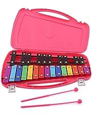 Glockenspiel Professional Diatónico de 25 teclas metálico, el regalo ideal para un instrumento musical, actualización xilófono, con dos martillos