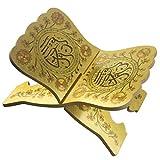 Milisten Soporte de Libro del Corán Vintage Eid Estante de La Oración Musulmana de Madera Plegable Rihal Estante de Exhibición de La Biblia Revista Titular Musulmán Regalo Religioso