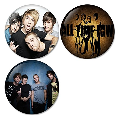 All Time Low #1 Pinback Buttons Badges/Pin 1.25 Inch (32mm) Set of 3 New