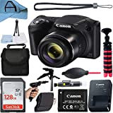 Canon PowerShot SX420 is Digital Camera 20.0MP Image Sensor with 42x Optical Zoom Lens, SanDisk 128GB Memory Card, Gadget Bag Case, Tripod and A-Cell Accessory Bundle (Black)