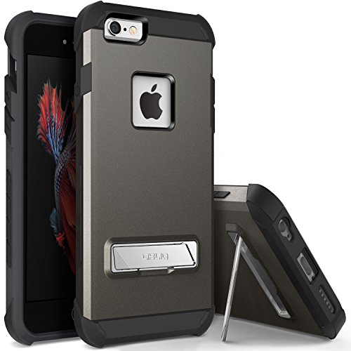 iPhone 6S Plus Case, OBLIQ [Skyline Advance][Space Gray] with Metal Kickstand Dual Layered Metallic Heavy Duty Hard Protection Hybrid Case for iPhone 6S Plus (2015) & iPhone 6 Plus (2014)