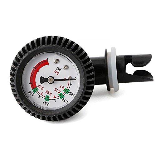 Lionina Luftdruckprüfer, PVC Manometer Luftthermometer Luftdruckventil Stecker für aufblasbares Kajak-Test SUP Stand Up Paddle Board Surfen