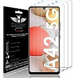 TECHGEAR 3 Piezas Protector de Pantalla Compatible con Samsung Galaxy A42 5G [Screen Angel] Alta Definición Pantalla con Cobertura Completa [Sin Burbuja] [Compatible con Huella Digital]