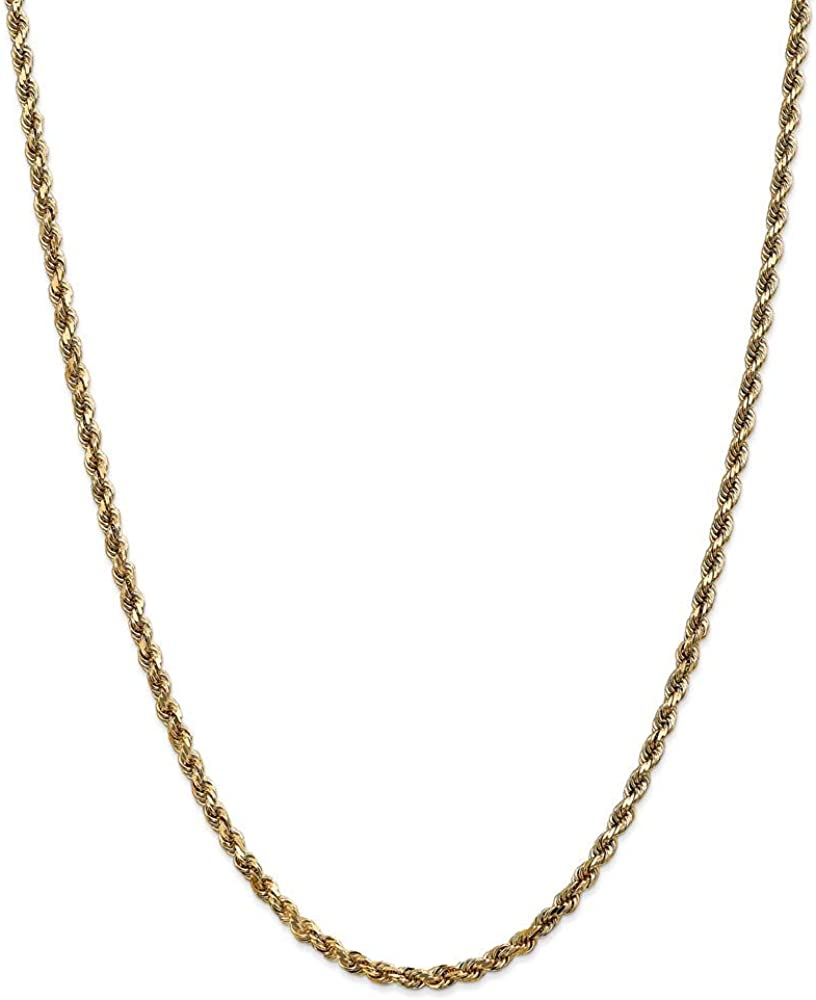 14k Yellow Gold 3.5mm Link Rope Lobster Chain Max 42% OFF half Necklace Clasp 18