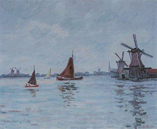 Der Museum Steckdose–Segelboote und Windmühlen in Holland, 1904–A3Poster