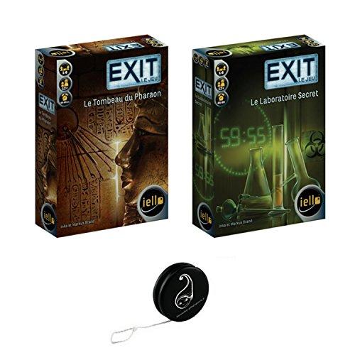 Juego de 2 juegos de iello: el laboratorio secreto + la tumba del faraón + 1 azul