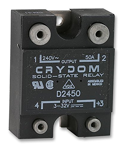 SENSATA/CRYDOM - D2450-10 - Solid State Relay, SPST-NO, 50 A, 280 VAC, Panel, Screw, Random Turn On