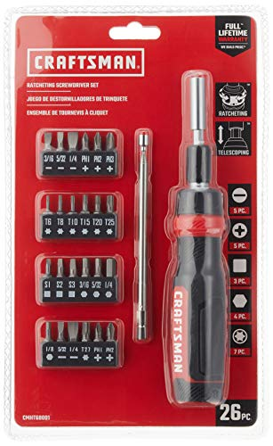 CRAFTSMAN Ratcheting Screwdriver Set, 26-Piece (CMHT68001)
