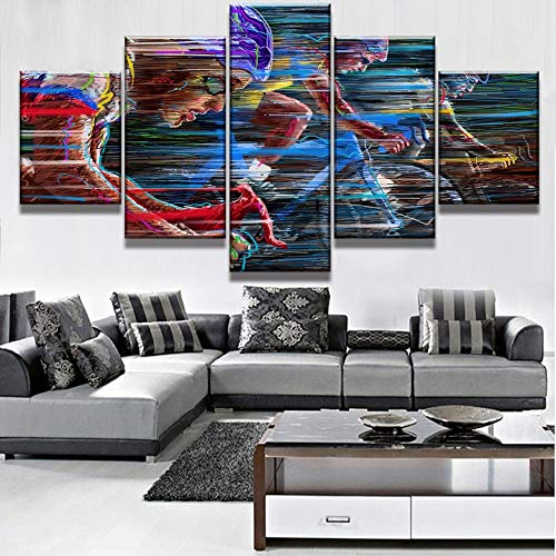 5 Canvas paintings Canvas Art Abstract Bicycle Cuadros Decoracion Paintings on Canvas for Home Decorations Wall Decor Artwork Frameless