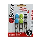Sassy Sassy Decorative Diaper Pins 6 Count