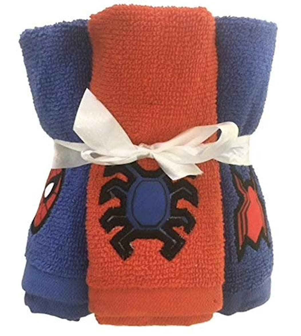 きつく貢献ケーブルカーFranco & Sons, Marvel Spiderman 6?pc。Washcloth Set