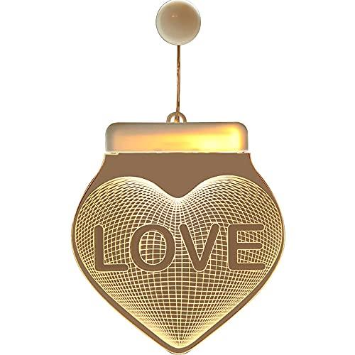 MornBee 3D llevó el ornamento que cuelga las luces decorativas de la decoración de la habitación (Love)