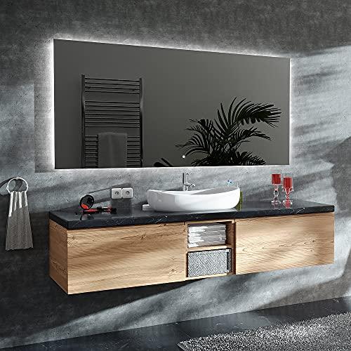 ARTTOR Badspiegel mit Beleuchtung - Bad Dekoration - Wandspiegel Groß und Spiegel Klein mit Led Licht - Unterschiedliche Lichtanordnung und Alle Dimensionen - M1CD-01-40x60