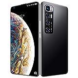 FJYDM Teléfono Inteligente Desbloqueado, Teléfono Celular De 128GB con Expansión Android 10, Pantalla De 7.2 Pulgadas, Cámara De 21MP + 42MP, Batería De 5600Mah 5G Teléfono Desbloqueado,Negro