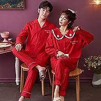 Yadianna 女性のファッション厚い刺繍原因ホームスーツ女性セット (Color : V6982, Size : Women M)