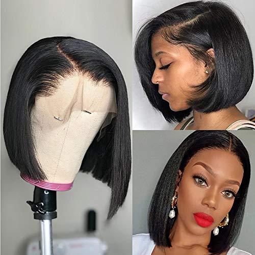 Ali Lumina 13x4 Lace Front Wigs Short Bob Wigs Straight Human Hair Bob Wigs for Black Women Human Hair Lace Front Wigs Pre Plucked with Baby Hair