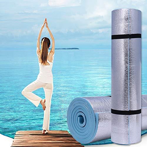 XMYNB Esterilla de yoga de 6 mm de grosor duradera Eva Yoga Mat Ejercicio, Gimnasio Fitness Entrenamiento Almohadilla antideslizante para acampar