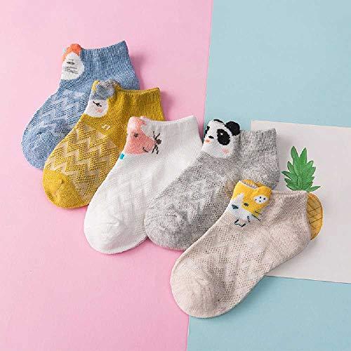 ZHANGNUO Frühling Und Sommer Jungen Und Mädchen Bootssocken Baby Baumwollsocken Mesh Atmungsaktiv XL/Kleintier Wave Mesh Boot Socken