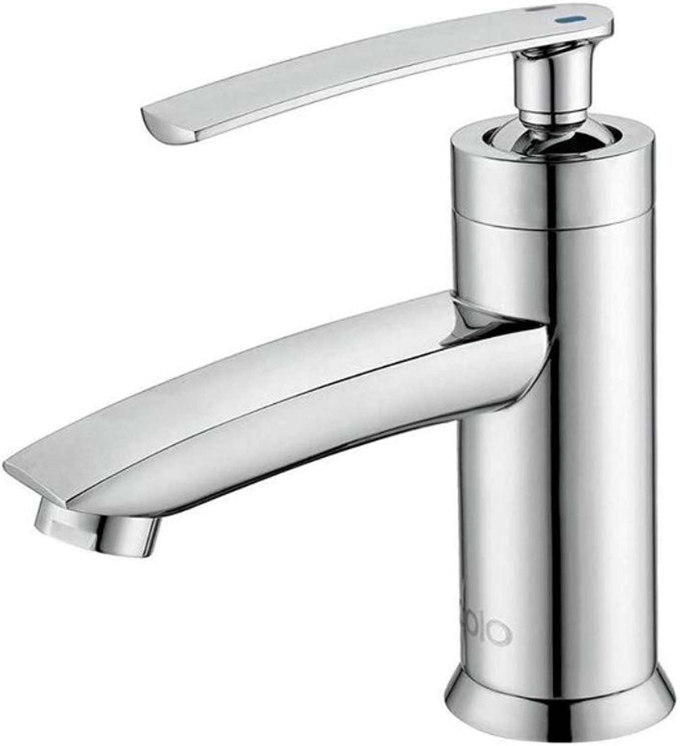 Mixer Basin Taps Bathroom Basin Sink Tap Bathroom Faucet Brass Single Handle Single Hole Hot and Cold Water Cloakroom