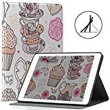 9.7 Cubiertas de iPad Copas de Cocina Coloridas Fit 2018/2017 Funda de 5ta / 6ta generación de iPad para Apple iPad 9.7 También se Ajusta a iPad Air 2 / iPad Air Auto Wake/Sleep