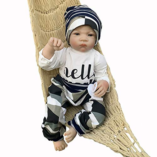Adolly 20 inch Realistic Reborn Baby Doll - Soft Weighted Silicone Newborn - Lifelike Baby Dolls with Clothes